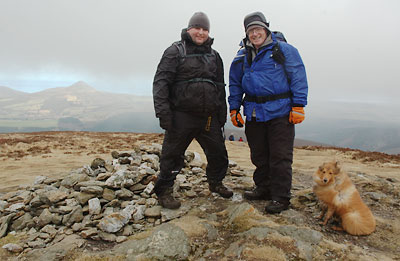 Bobby, Peter and Simba reach the top of Maulin